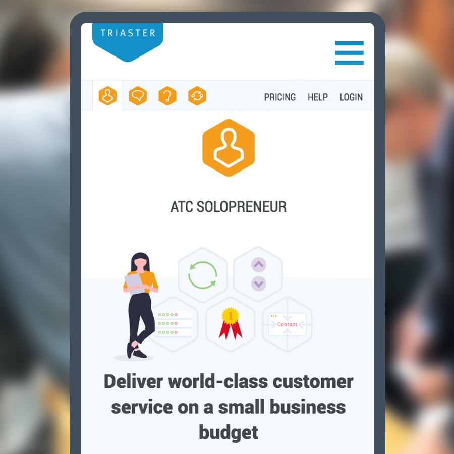 bespoke websites designed in HubSpot - Triaster's whitepapers page on mobile